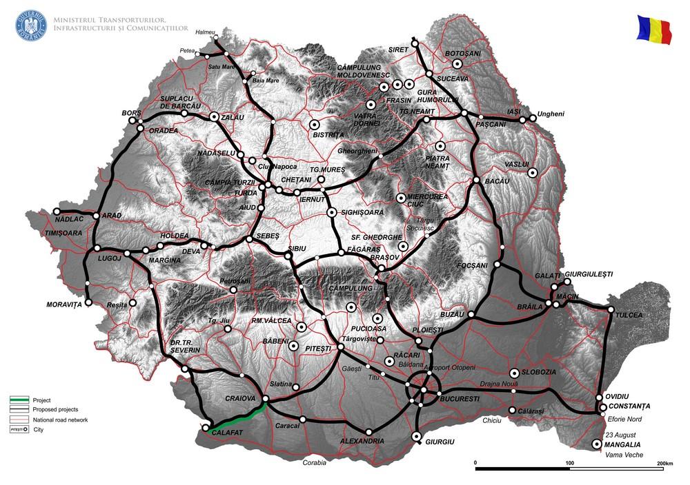 harta Reabilitare DN56, Craiova-Calafat, km 0+000 - km 84+020  – Faza II,