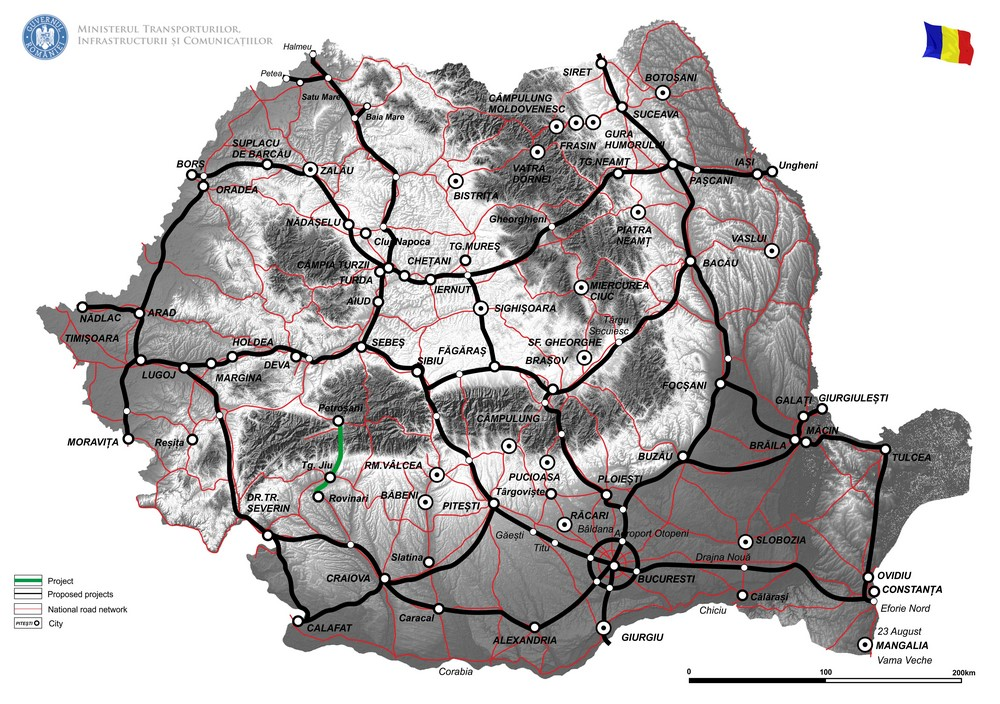harta Reabilitare DN66, Rovinari-Petrosani, km 48+900 - km 126+000  – Faza II,