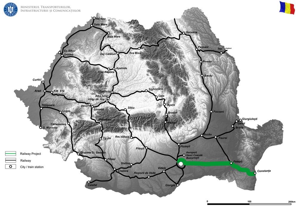 harta Reabilitarea podurilor feroviare situate la km 152+149 și km 165+817 pe secţiunea feroviară Bucureşti – Constanţa