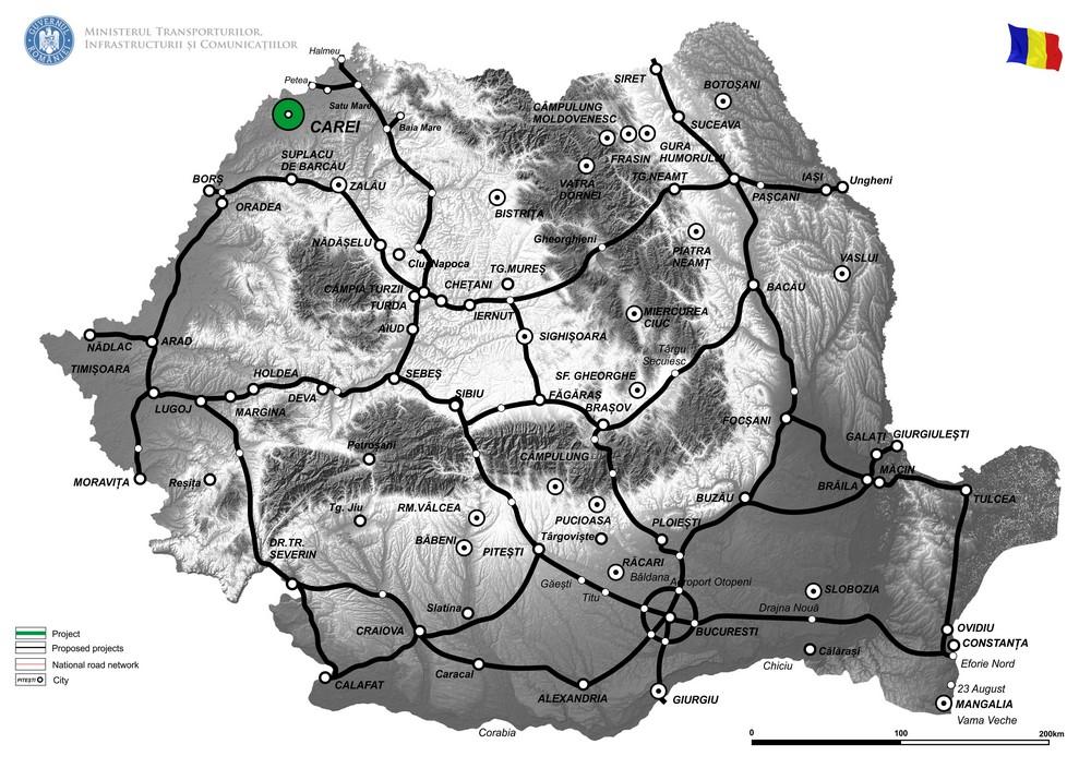 harta Varianta de ocolire Carei (faza II)