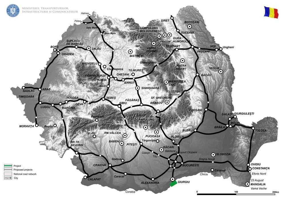harta Reabilitare pod Giurgiu, peste Dunăre, pe DN5 km 64+884 – Faza II