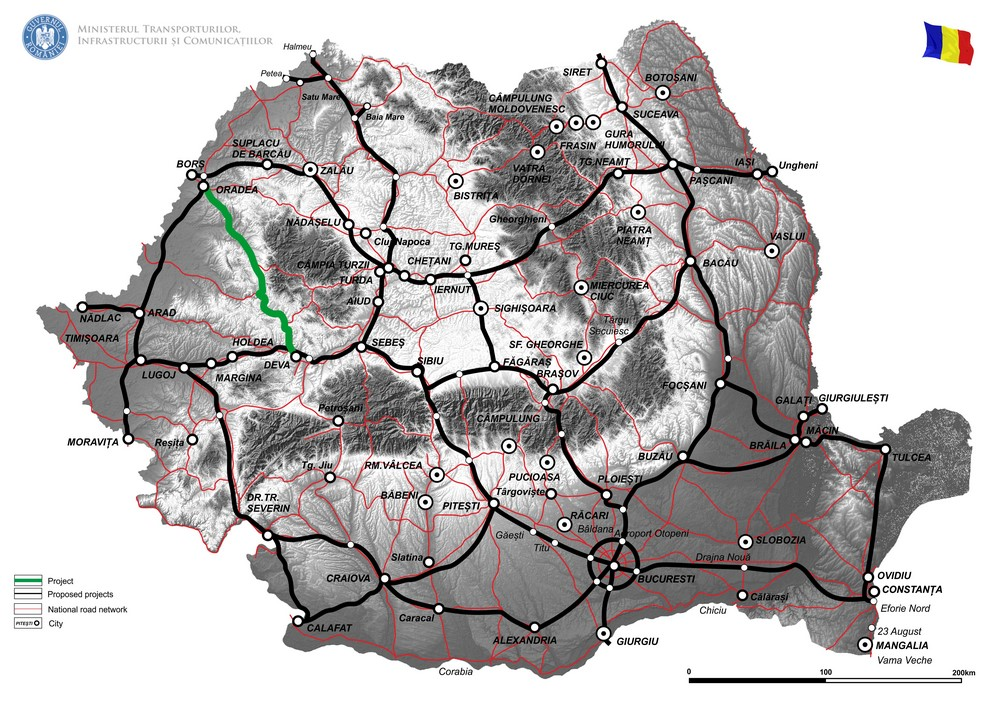 harta Reabilitare DN 76, Deva - Oradea - Faza II