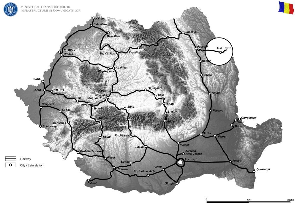 harta Lucrări de reabilitare pentru poduri, podețe și tuneluri de cale ferată - SRCF Iaşi-Faza II