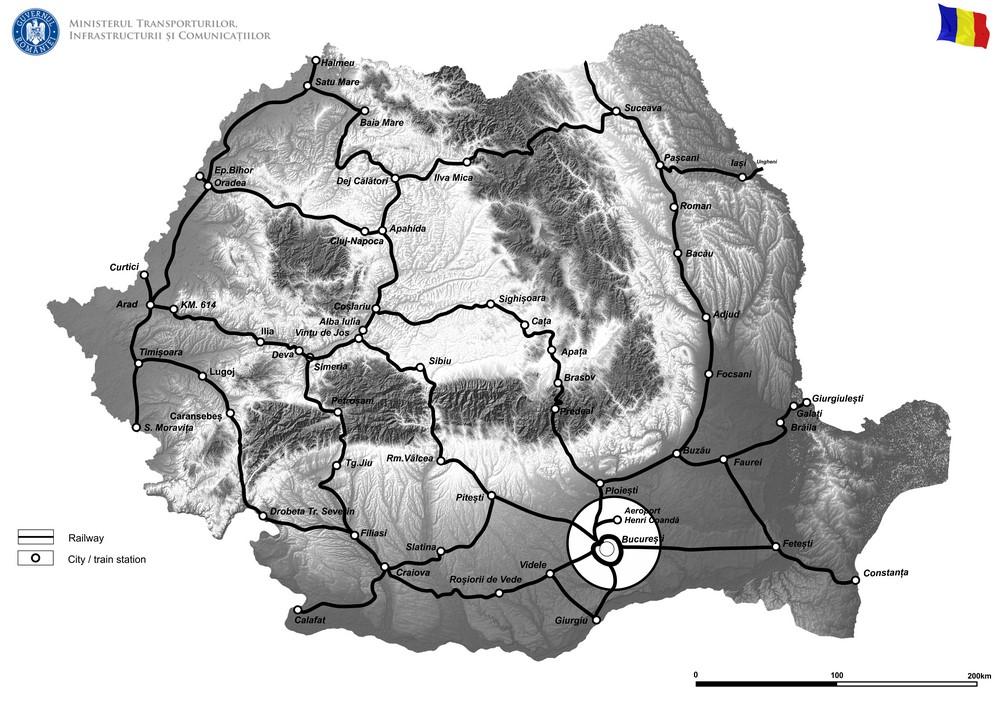 harta Lucrări de reabilitare poduri, podețe și tuneluri de cale ferată – Sucursala Regională de Căi Ferate București – Faza 2