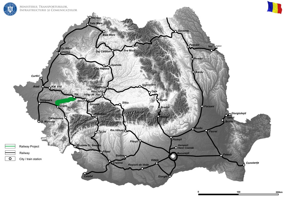 harta Modernizarea instalatiilor de centralizare electromecanica pe sectia de circulatie Ilia - Lugoj – Faza II
