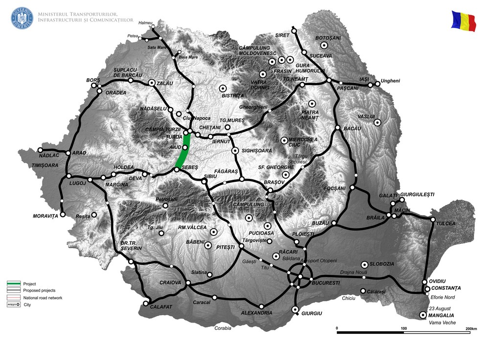 harta Autostrada Sebes-Turda
