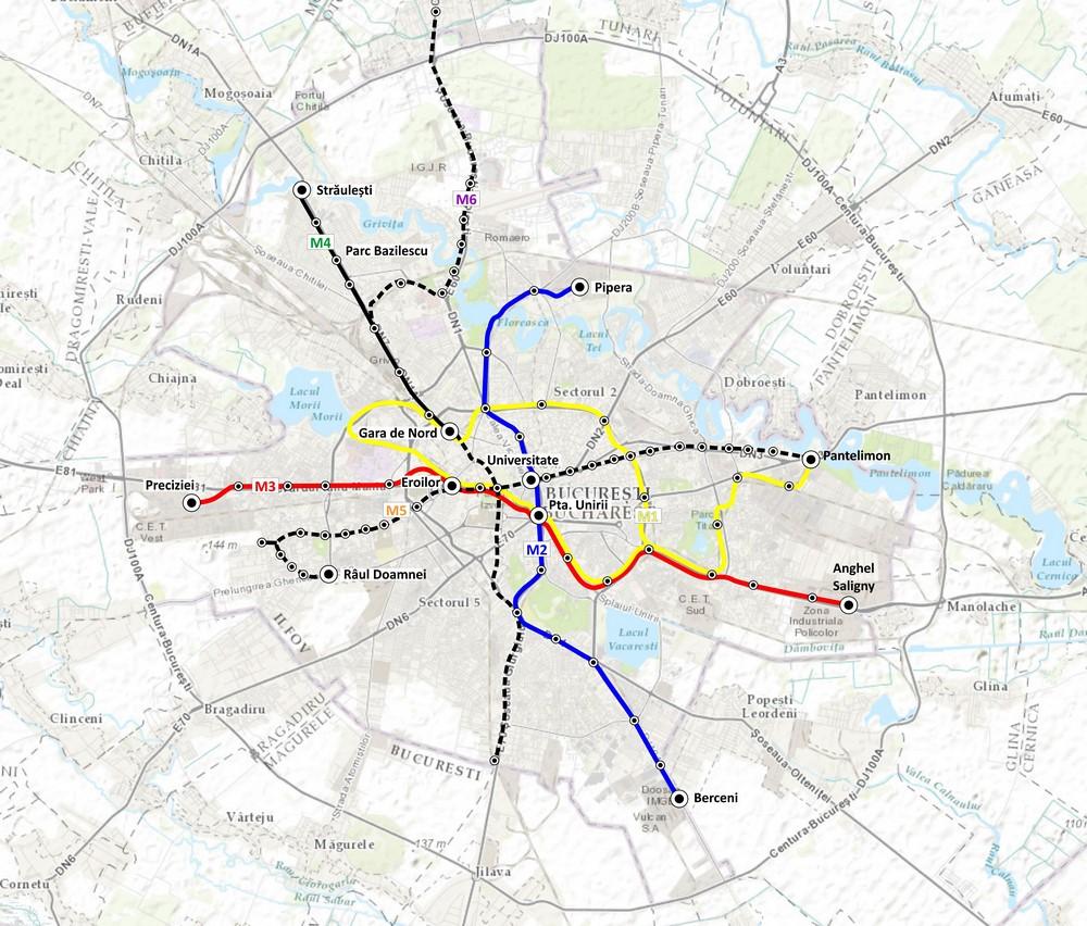 harta Modernizarea Instalatiilor pe Magistralele 1, 2, 3 si TL de Metrou. Instalatii de Control Acces