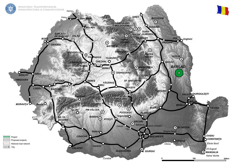 harta Varianta de ocolire Barlad