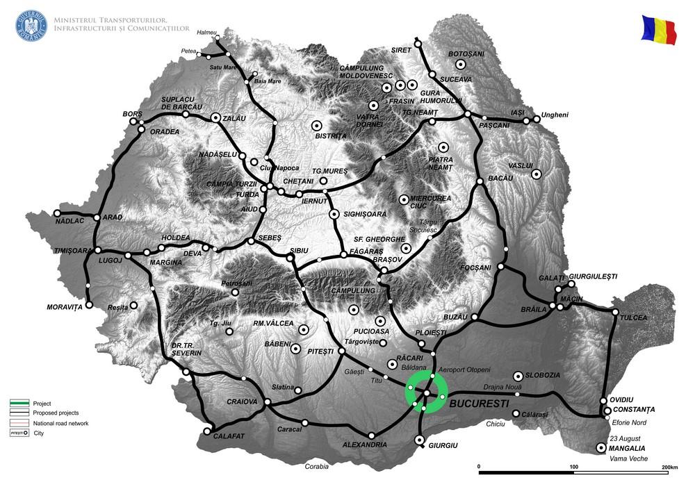 harta Infrastructura integrata pentru zona orbitala a Municipiului Bucuresti