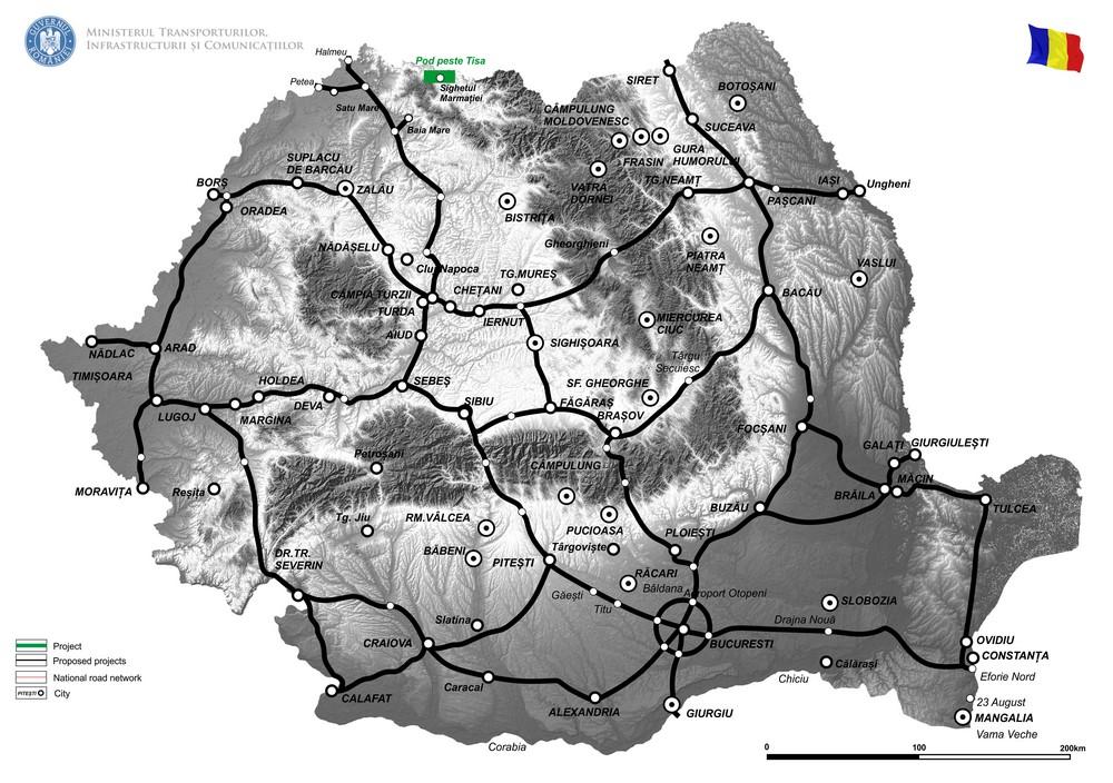 harta Revizuire/actualizare studiu de fezabilitate pentru Pod peste Tisa in zona Teplita din Sighetul Marmatiei