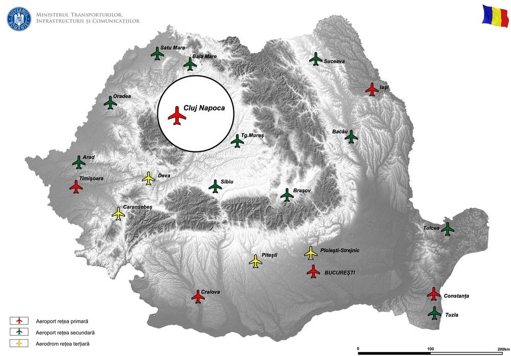 harta Cale de rulare paralelă cu pista