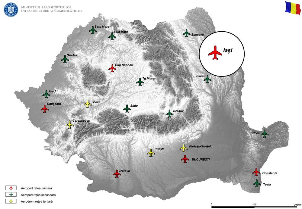 """harta """"Suplimentarea capacitatilor de operare pentru pista de decolare aterizare si platforma de stationare a aeronavelor de la Aeroportul Iasi"""""""