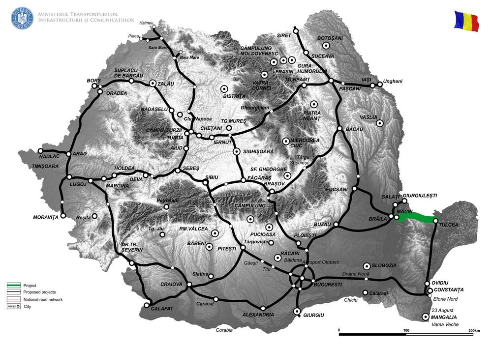 harta Elaborare Studiu de fezabilitate si Proiect Tehnic de Executie pentru obiectivul Drum Expres Braila (Jijila) - Tulcea (Cataloi)