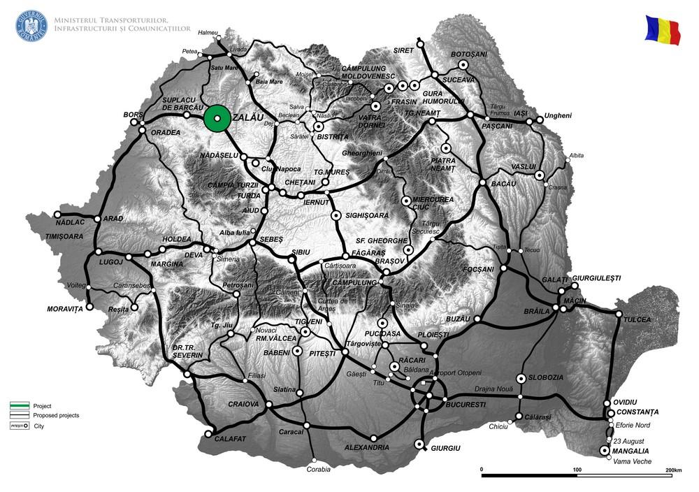 harta Varianta de ocolire a municipiului Zalau, etapa 2, intre DN1F, km 79+625 - DJ 191C