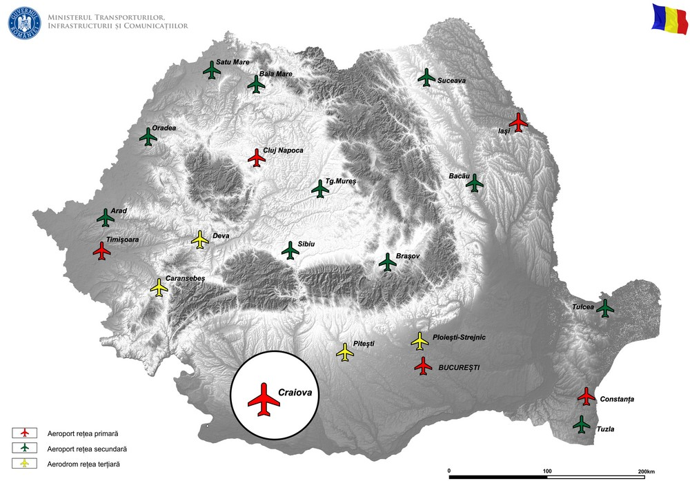 harta SECURIZARE COMPLETA (OUTDOOR/INDOOR) A AEROPORTULUI INTERNATIONAL CRAIOVA