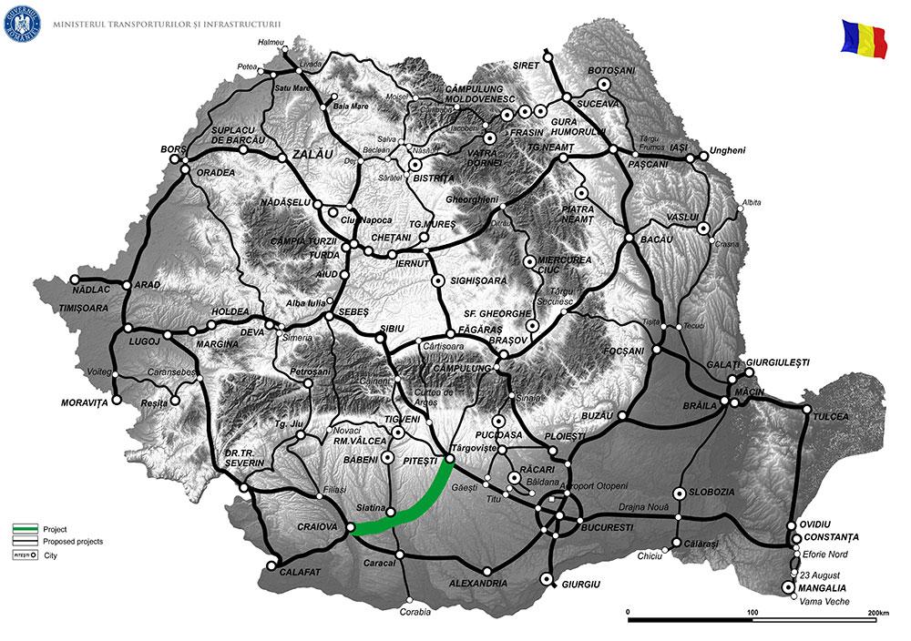 harta Drum expres Craiova - Pitești